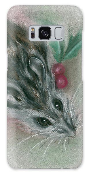 Winter Mouse With Holly Galaxy Case