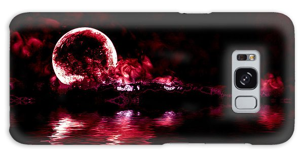 Winter Ocean Moonrise Galaxy Case