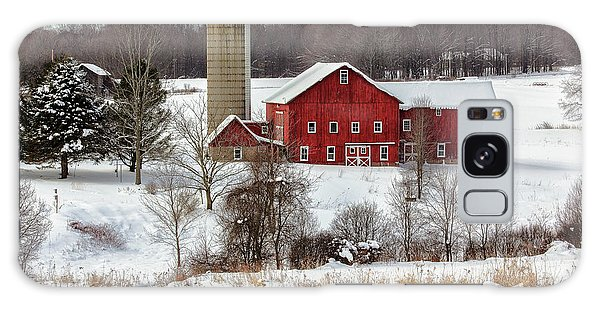 Winter On A Farm Galaxy Case