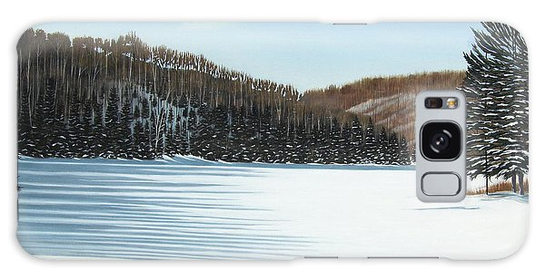Winter On An Ontario Lake  Galaxy Case