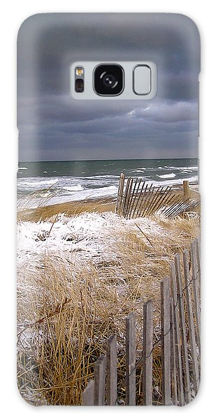 Winter On Cape Cod Sandy Neck Beach Galaxy Case