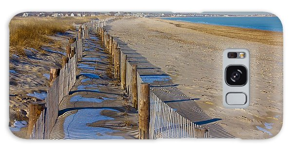 Winter On Duxbury Beach Galaxy Case