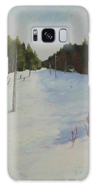 Winter On Moose Pond Galaxy Case
