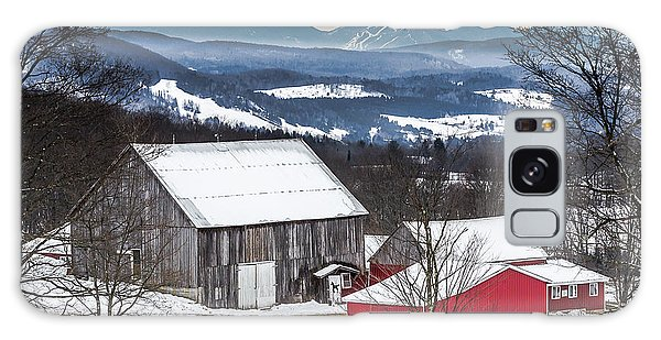 Winter On The Farm On The Hill Galaxy Case