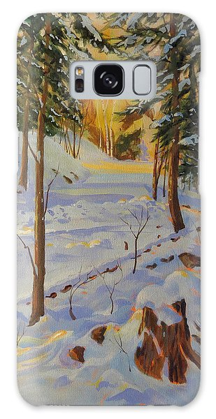 Winter On The Lane Galaxy Case by David Gilmore