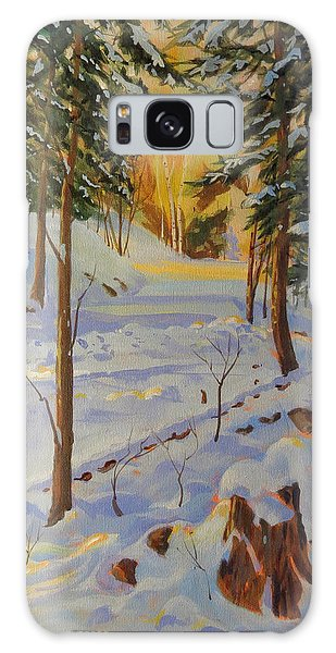 Galaxy Case featuring the painting Winter On The Lane by David Gilmore