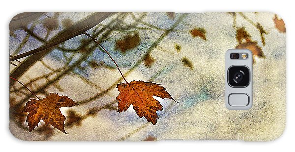 Leaf Galaxy Case - Winter On The Way by Rebecca Cozart