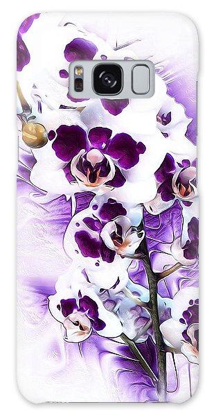 Winter Orchid Galaxy Case by Gabriella Weninger - David