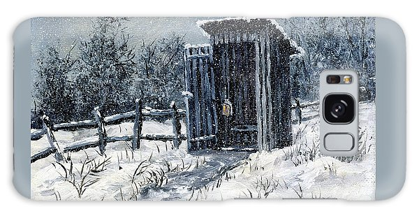 Winter Outhouse #2 Galaxy Case