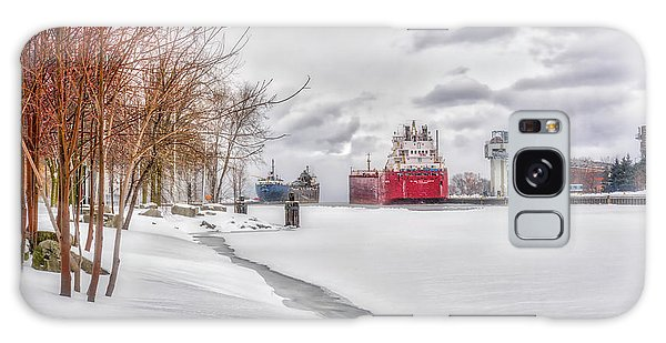 Winter Owen Sound Harbour Galaxy Case by Irwin Seidman