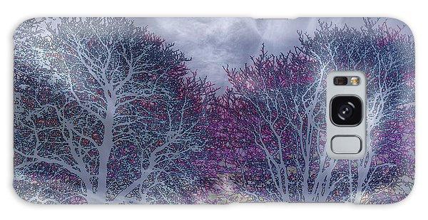 Galaxy Case featuring the photograph Winter Purple by Nareeta Martin