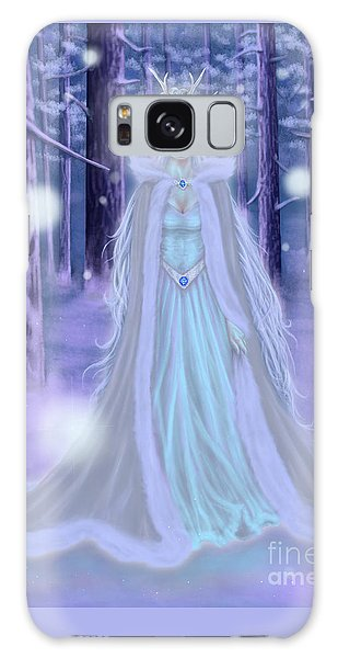 Galaxy Case featuring the painting Winter Queen by Amyla Silverflame