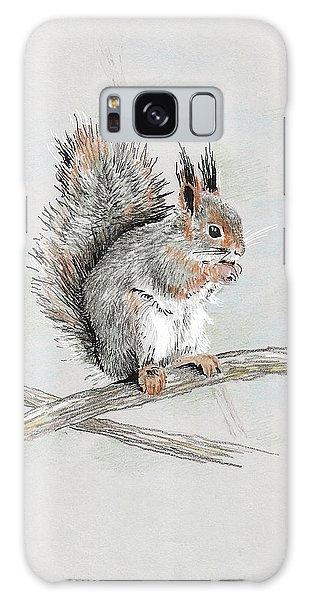 Winter Red Squirrel Galaxy Case