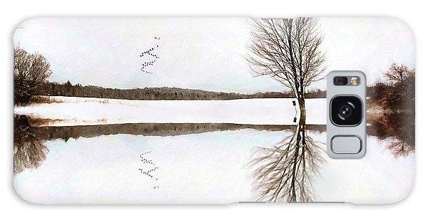 Winter Reflection Galaxy Case