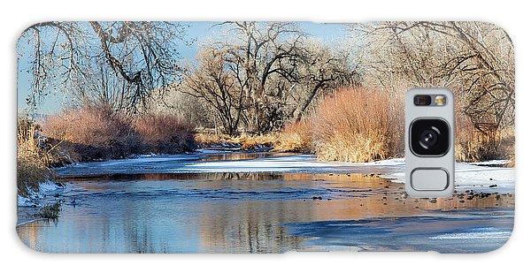 Winter River In Colorado Galaxy Case