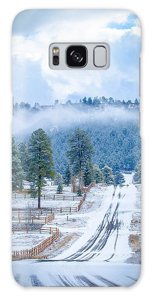 Galaxy Case featuring the photograph Winter Road by Jason Smith