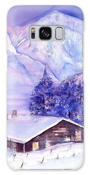 Swiss Mountains - Winter Scene With Eiger Moench Jungfrau Galaxy Case