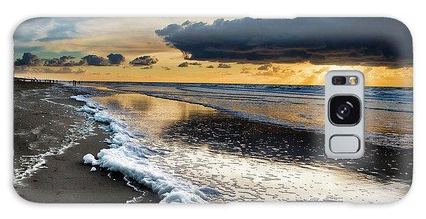 Winter Sea Sunset Galaxy Case