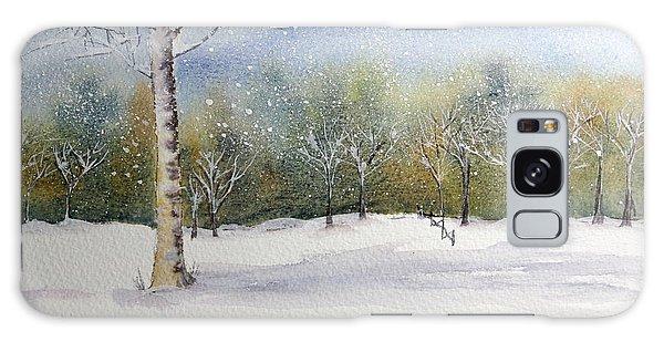 Winter Silence Galaxy Case by Jan Cipolla