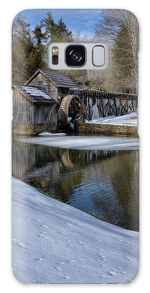 Winter Snow At Mabry Mill Galaxy Case