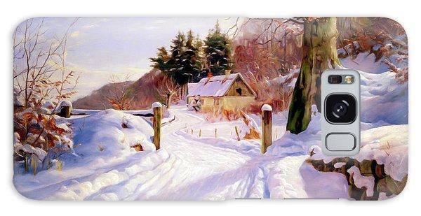 Cottage Galaxy Case - Winter Snow Glow by Georgiana Romanovna