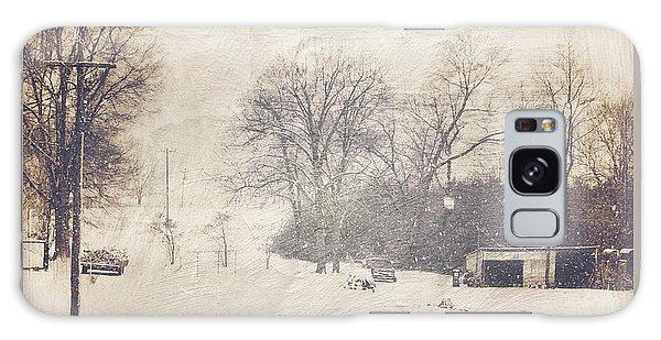 Winter Snow Storm At The Farm Galaxy Case
