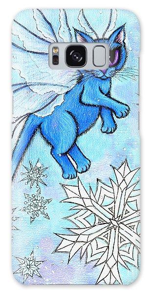 Winter Snowflake Fairy Cat Galaxy Case