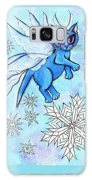 Winter Snowflake Fairy Cat Galaxy Case by Carrie Hawks