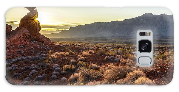 Winter Solstice Sunrise At Balanced Rock Galaxy Case