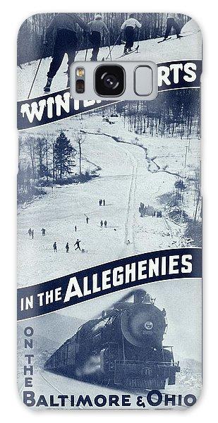Winter Sports In The Alleghenies Galaxy Case