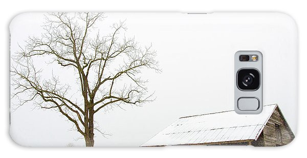 Winter Storm On The Farm Galaxy Case by George Randy Bass