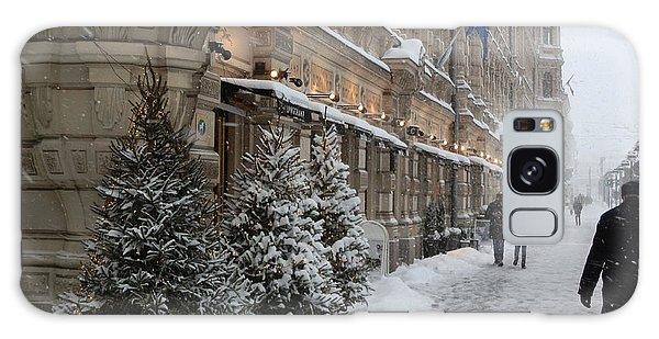 Winter Stroll In Helsinki Galaxy Case by Margaret Brooks