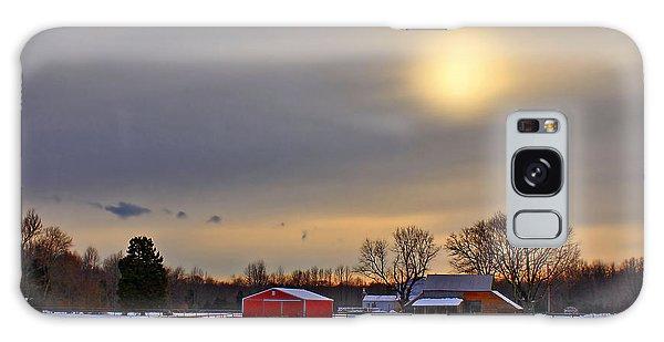 Countryside Galaxy Case - Winter Sun by Evelina Kremsdorf