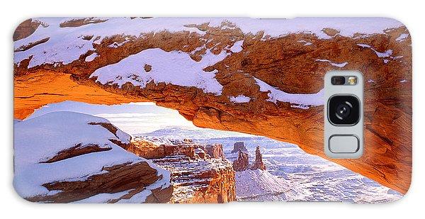 Winter Sunrise At Mesa Arch Galaxy Case