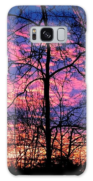Winter Sunrise Galaxy Case by Betty Buller Whitehead