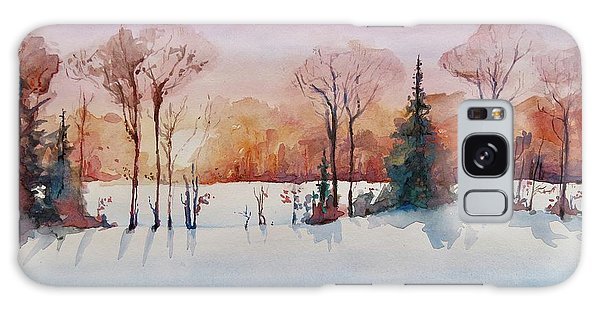 Winter Sunrise Galaxy Case by Geni Gorani
