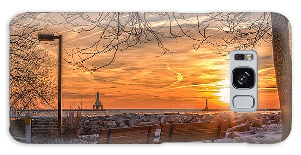 Winter Sunrise In The Park Galaxy Case