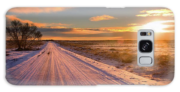 Winter Sunrise Light Galaxy Case by John De Bord