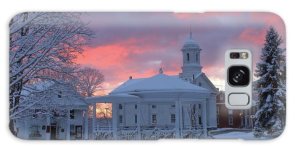 Winter Sunrise On The Common Galaxy Case by John Burk
