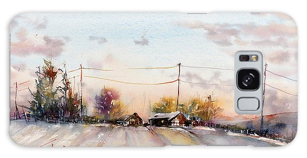 Winter Sunrise On The Lane Galaxy Case by Judith Levins