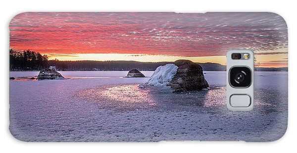 Winter Sunrise Over Moose Pond Galaxy Case