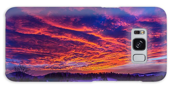 Winter Sunrise Galaxy Case