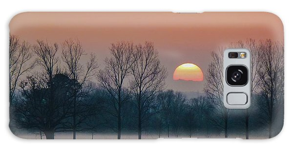 Winter Sunset 1 Galaxy Case by Jean Bernard Roussilhe