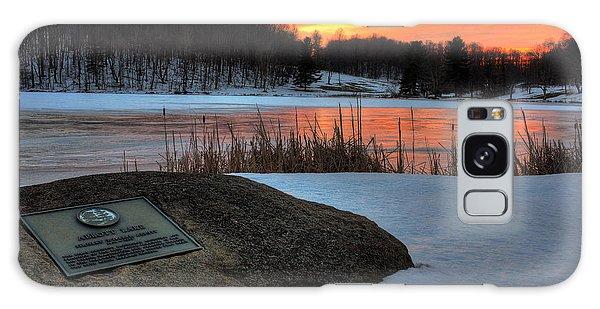 Winter Sunset Abbott Lake Galaxy Case