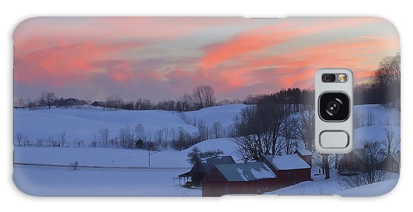 Winter Sunset At Jenne Farm Vermont Galaxy Case by John Burk