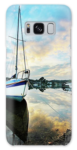 Winter Sunset At Mylor Bridge Galaxy Case
