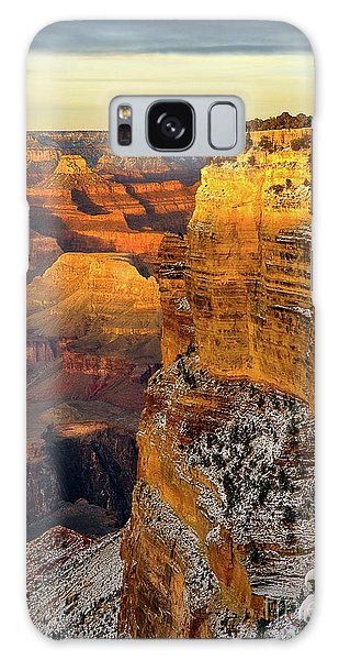 Winter Sunset At The Grand Canyon Galaxy Case