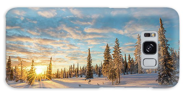 Winter Sunset Galaxy Case by Delphimages Photo Creations