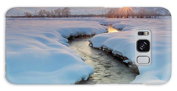 Winter Sunset In Rural Utah. Galaxy Case