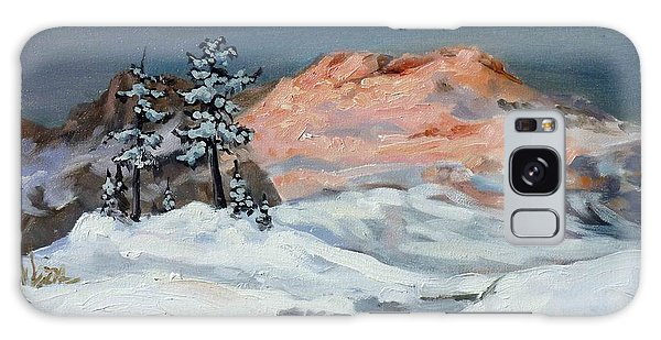 Winter Sunset In The Mountains Galaxy Case